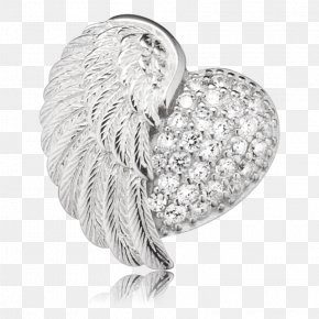 Heart Wing - Charms & Pendants Sterling Silver Trailer Jewellery Cubic Zirconia PNG