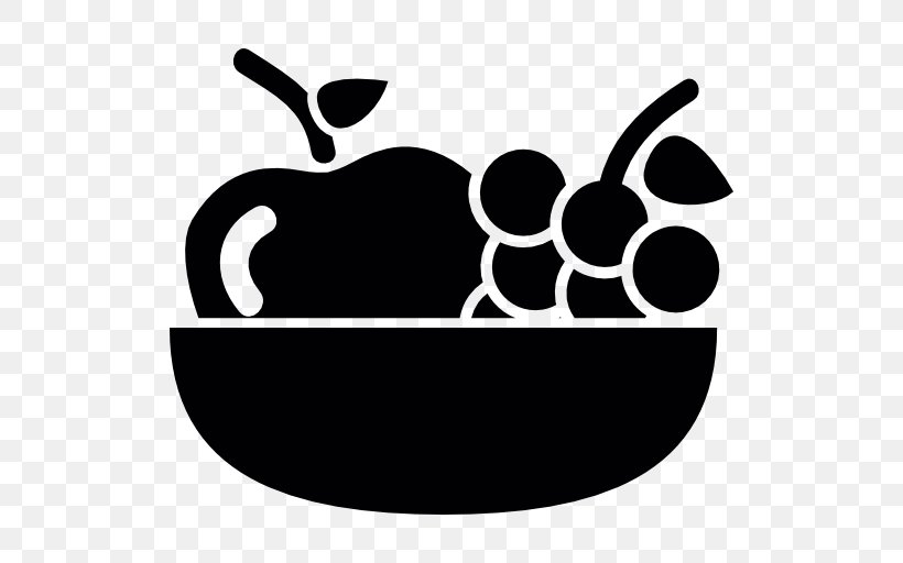 Clip Art Fruit Icon Design Vector Graphics Png 512x512px Fruit Apple Black Black And White Bowl