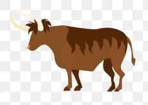 Vector Bison Material - Cattle Icon PNG