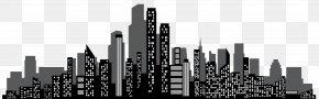 Cityscape Silhouette Clip Art - Brand Skyscraper Skyline Black And White PNG