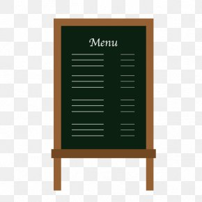 Cartoon Painted Small Blackboard Menu - Cafe Blackboard Menu Download PNG