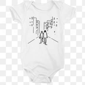 T-shirt - Baby & Toddler One-Pieces T-shirt White Sleeve Font PNG