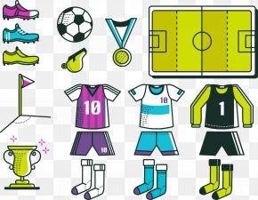 Vector Football Field - Jersey Euclidean Vector Kit PNG