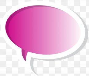 Speech Bubble Pink Clip Art Image - Brand Circle PNG