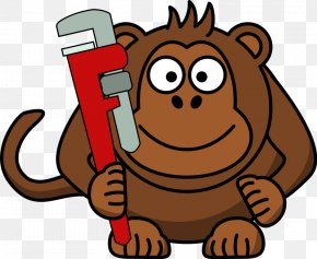 Cleaning Lady Cartoon - Monkey Wrench Clip Art PNG