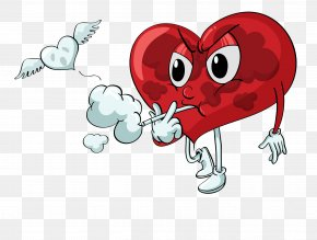 Smoking The Heart - Smoking Heart Stock Illustration PNG