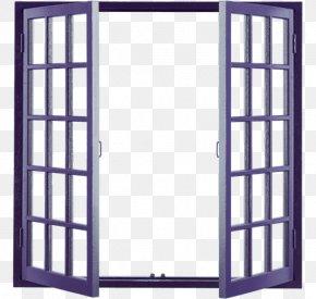 Blue Open Windows - Window Building Door Wood PNG