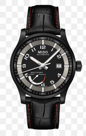 Mido Watches Black Watches Male Table Mechanical Watch - Mido Automatic Watch Clock Power Reserve Indicator PNG