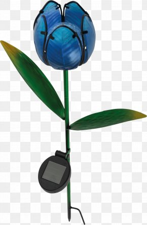 Light - Light Fixture Solar Lamp Tulipa – Blue Decorative Solar Light With LED Light-emitting Diode PNG