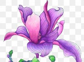 Purple Flower China Wind Antiquity - Violet Euclidean Vector Flower PNG