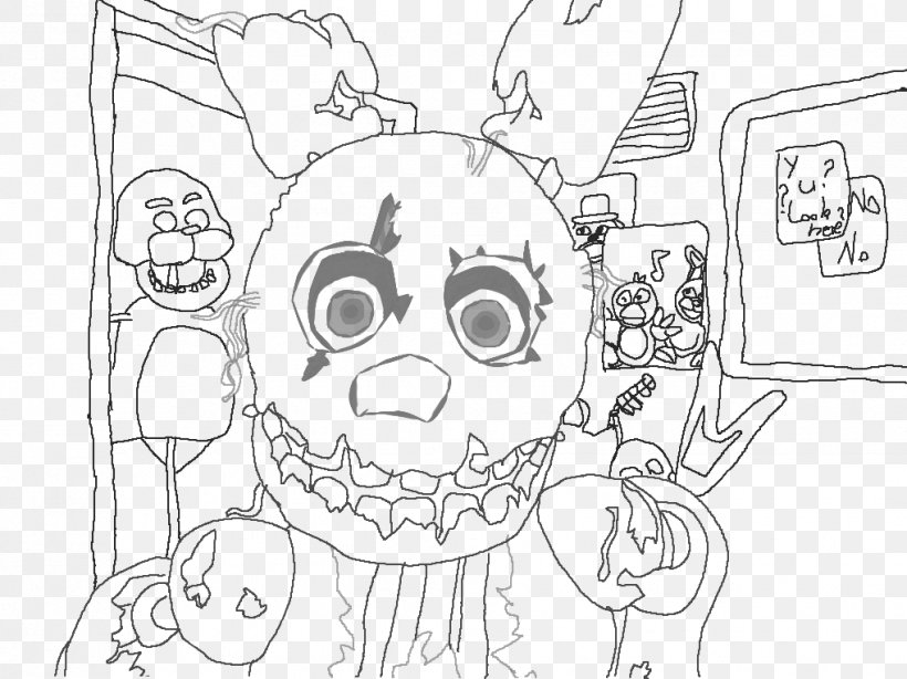 This is an image of Five Nights at Freddy's Coloring Pages Printable with springtrap