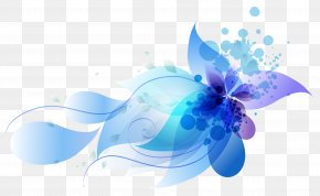 Colorful Abstract Flowers - Computer Graphics PNG