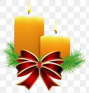 Christmas Candles Transparent Clip Art Image - Christmas Candle Clip Art PNG
