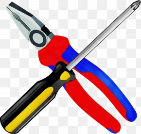 Metalworking Hand Tool Scissors - Watercolor Cartoon PNG