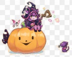 Witch And Cat On Halloween Pumpkin - League Of Legends Halloween Pumpkin Cat PNG