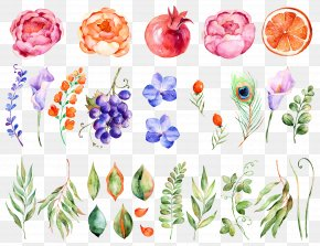 Watercolor Flowers - Flower Watercolor Painting PNG