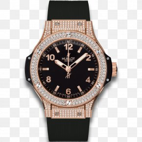 Watch - Watch Hublot Diamond Quartz Clock Gold PNG