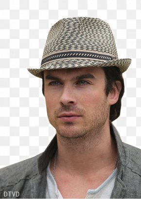 Damon Salvatore - Ian Somerhalder Fedora Sun Hat Cowboy Hat The Kentucky Derby PNG