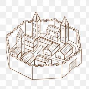 Fantasy City - City Map Map Symbolization Clip Art PNG