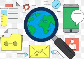Document Network World Cloud Folder - Analysis Illustration PNG