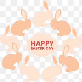 Vector Pink Background Easter Bunny - Easter Bunny European Rabbit PNG