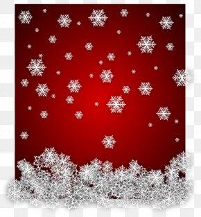 Christmas Red Snowflake Winter - Snowflake Drawing Clip Art PNG