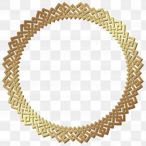 Round Golden Border Frame Transparent Clip Art - Circle Gold Clip Art PNG