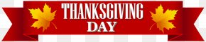 Thanksgiving Day Banner Transparent Clip Art Image - Plimoth Plantation Thanksgiving Day Public Holiday PNG