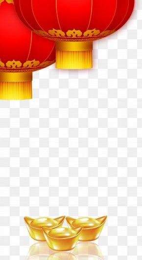 Chinese New Year Festive Red Lanterns - Lantern Chinese New Year Lunar New Year Firecracker PNG