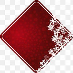 Polka Dot Red Diamond Snowflake Text Box - Text Box Rhombus Square Icon PNG