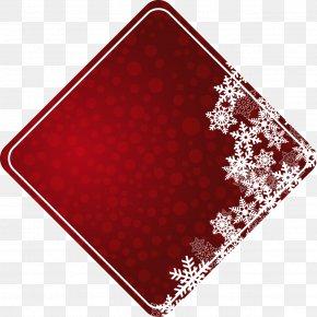 Polka Dot Red Diamond Snowflake Text Box - Text Box Rhombus Square Icon PNG