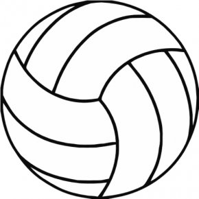 Volleyball - Volleyball Net Coloring Book Clip Art PNG