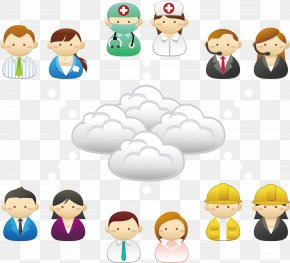 Cloud Server Each Device - Cloud Computing Server PNG