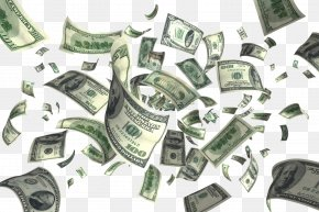 Flying Dollars Picture - Money Flying Cash Clip Art PNG