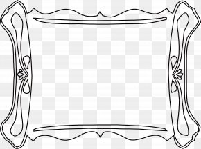 Simple Black Frame - Black And White Clip Art PNG