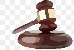 Cartoon Auction Hammer - Gavel Cartoon Clip Art PNG