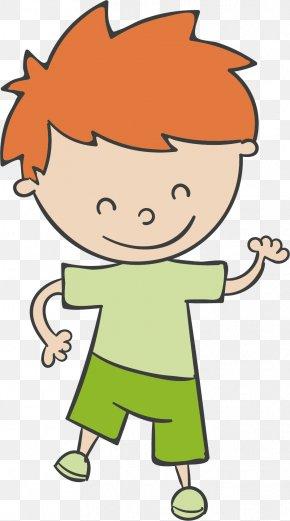 Brown Hair Boy Vector - T-shirt Green Brown Hair PNG