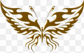 Decal - Butterfly Tattoo Drawing PNG