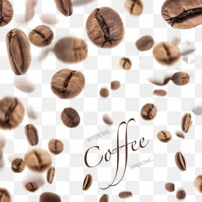 Coffee Beans Background Decoration - Coffee Bean Tea Mooncake PNG