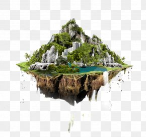 Floating Mountain Building Material - User Interface Design Icon Design PNG