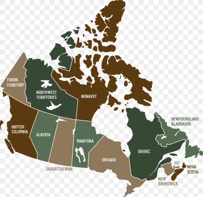 Provinces And Territories Of Canada United States Vector Map ...
