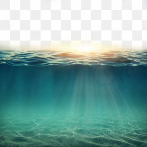 Sunlight Penetrating The Sea - Underwater Clip Art PNG