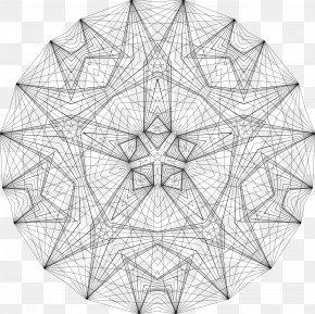 Geometric Border - Geometry Drawing Line Art Coloring Book PNG