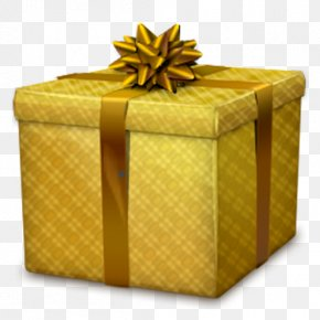 Ribbon Gift Box Element PNG