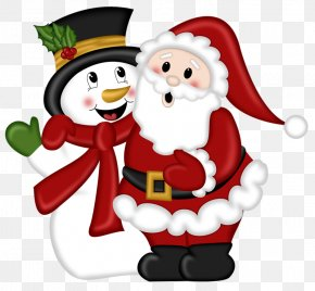 Santa Claus And Snowman - Santa Claus Reindeer Christmas Clip Art PNG