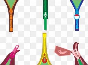 Vector Color Zipper - Zipper Euclidean Vector PNG