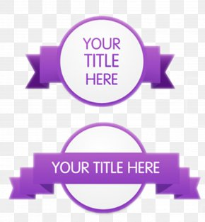 Ribbon - Purple Ribbon Paper Euclidean Vector PNG