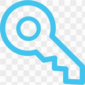 House Key Blue Icon - Clip Art PNG