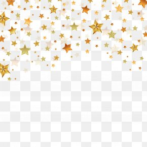 Vector Golden Stars - Euclidean Vector Star PNG