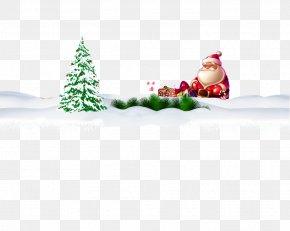 Free Christmas Buckle Material - Christmas Tree Santa Claus Christmas Gift PNG